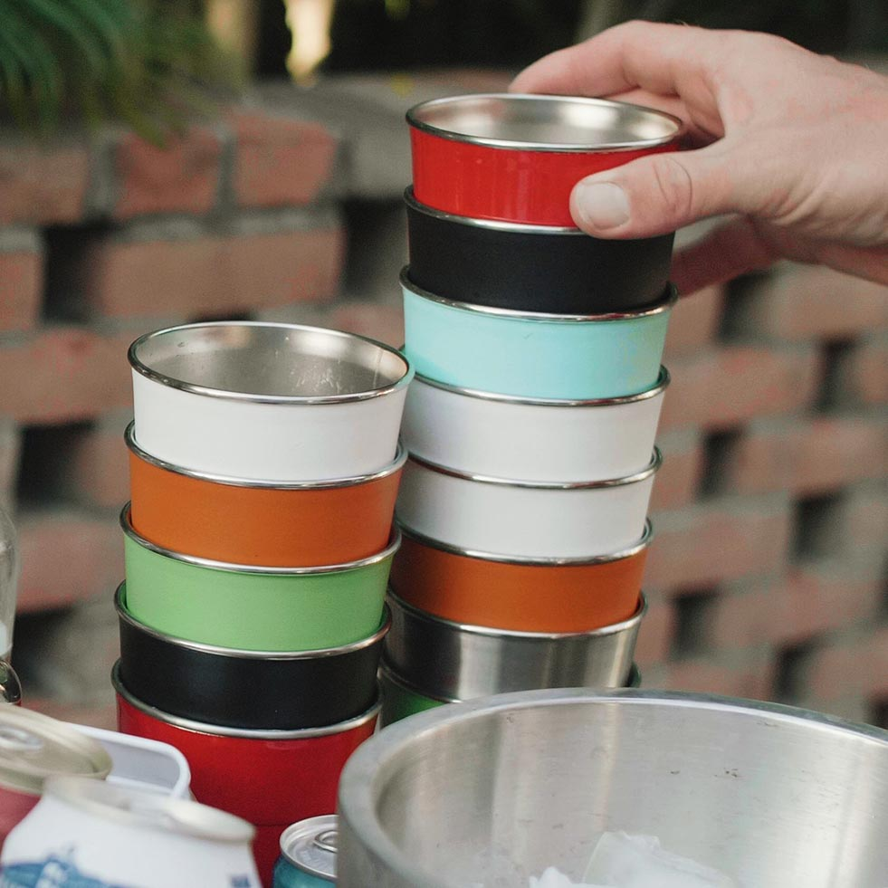 Stack of Pirani Cups
